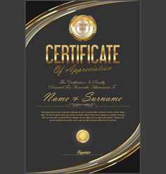 certificate retro design template 18 vector image