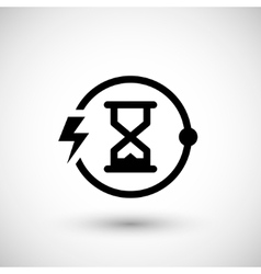 Charging time icon vector