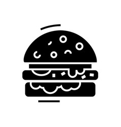 Cheese burger line icon vector