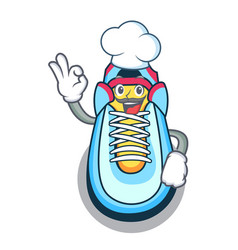 Chef cartoon pair of casual sneakers vector