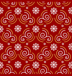 Christmas pattern seamless trendy line golden vector