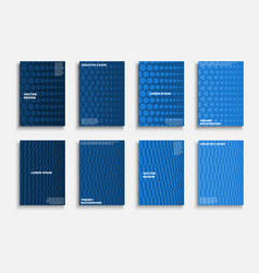 collection blue creative covers templates vector image
