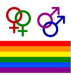 colorful lesbian gay bisexual and transgender vector image