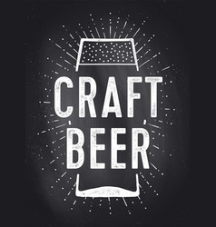 craft beer poster or banner vector image