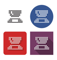 Dotted icon kitchen scales in four variants vector