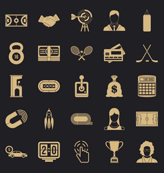 Dummy match icons set simple style vector