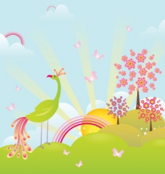 enchanting landscape vector image