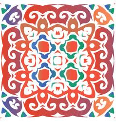 Ethnic ceramic tile in mexican talavera vector