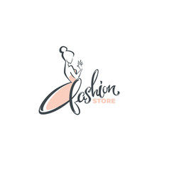 fashion boutique and store logo label emblem vector image