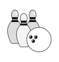 Figure bowling pin ball icon vector