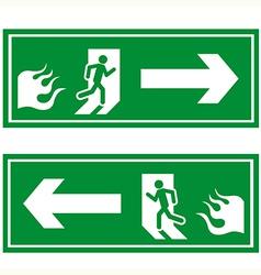 Fire exit 1 vector