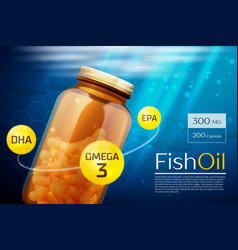 Fish oil template background vector