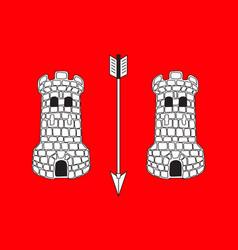 Flag of vire-normandie in calvados of normandy is vector