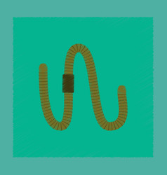 Flat shading style worm vector