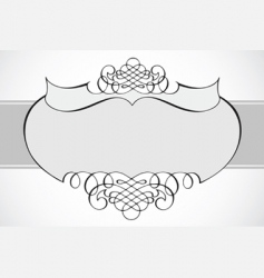 frame with swirl ornaments vector image