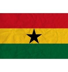 Ghana paper flag vector