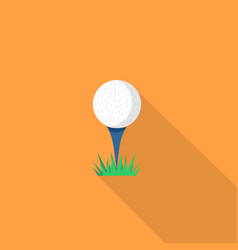 golf ball icon set of great flat icons with vector image