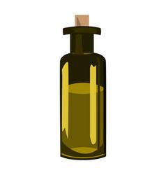 green olive oil bottle over white background vector image