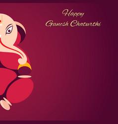 Happy ganesh chaturthi design vector