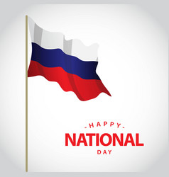Happy netherlands national day template design vector