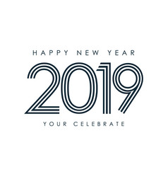 happy new year 2019 template design vector image