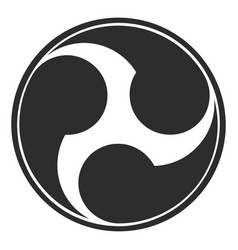 Icon with japanese symbol tomoe vector