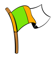irish flag icon icon cartoon vector image