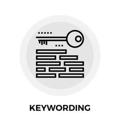 Keywording Line Icon vector image