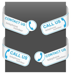 Left and right side signs - contact us vector