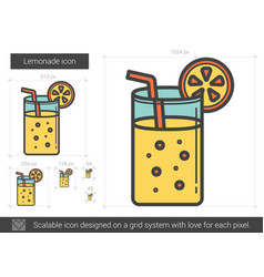 Lemonade line icon vector
