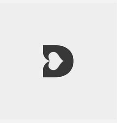 Letter d poker logo design template icon element vector