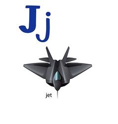 Letter J for jet vector