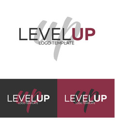 level up logo logo template logotype vector image