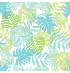 light tropical leaves summer hawaiian vector image