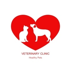 Logo design template for pet shops and veterinary vector