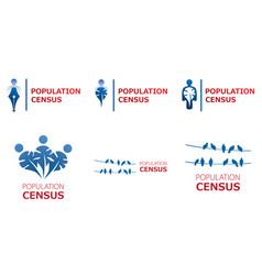 Logo for census population count vector