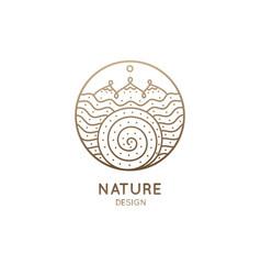 Logo wavy river vector