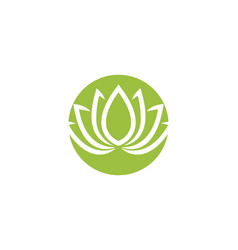lotus flowers design logo template icon vector image