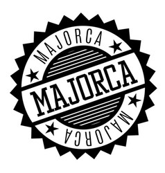 Majorca black and white badge vector