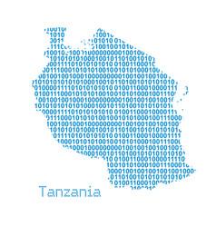 map tanzania vector image