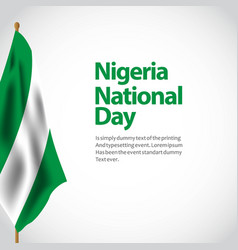 Nigeria national day template design vector