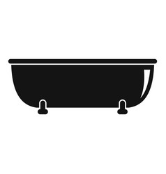 old bathtube icon simple style vector image