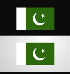 Pakistan flag banner design vector