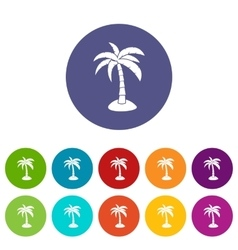 Palm set icons vector