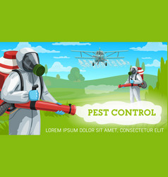 Pest control with agricultural crop pesticides vector