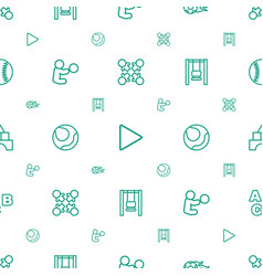 play icons pattern seamless white background vector image