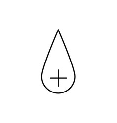 plus blood icon vector image vector image
