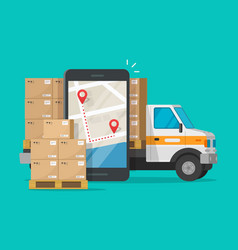 postal logistic service or courier freight vector image