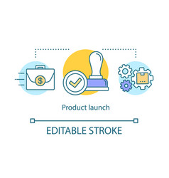 Product launch concept icon vector