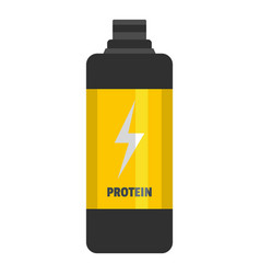 protein bottle icon flat style vector image